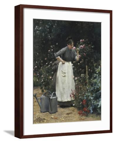 In the Rose Garden-Victor Gilbert-Framed Art Print
