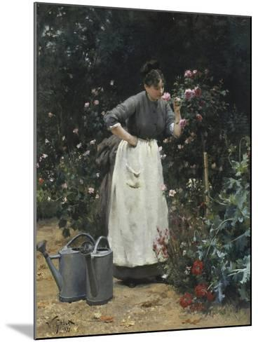 In the Rose Garden-Victor Gilbert-Mounted Giclee Print