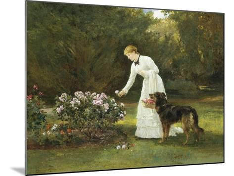 In the Rose Garden-Heywood Hardy-Mounted Giclee Print