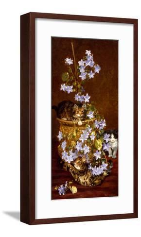Kittens and Flowers, c.1903-Wilson Hepple-Framed Art Print