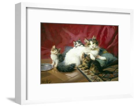 Cosy Family-Leon Charles Huber-Framed Art Print