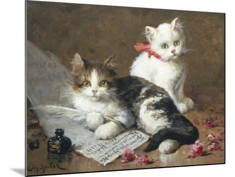 Young Feline Author-Leon Charles Huber-Mounted Giclee Print