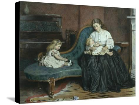 Quiet Afternoon Together-George Goodwin Kilburne-Stretched Canvas Print