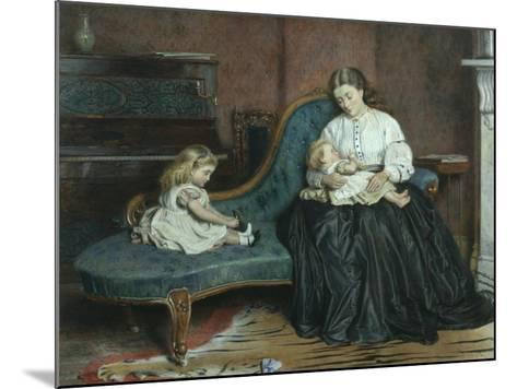 Quiet Afternoon Together-George Goodwin Kilburne-Mounted Giclee Print