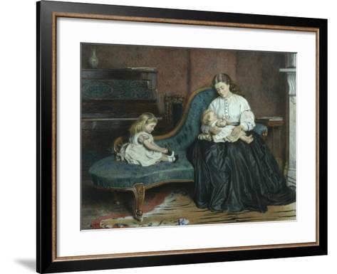 Quiet Afternoon Together-George Goodwin Kilburne-Framed Art Print