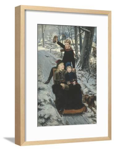 Jolly Sleigh Ride, c.1884-Frans De Wilde-Framed Art Print