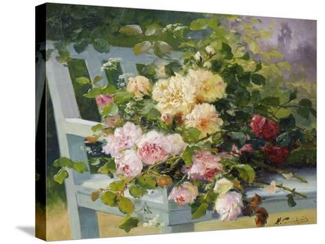 Romantic Roses-Eugene Henri Cauchois-Stretched Canvas Print