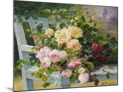 Romantic Roses-Eugene Henri Cauchois-Mounted Giclee Print
