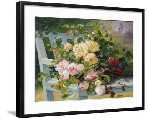 Romantic Roses-Eugene Henri Cauchois-Framed Art Print
