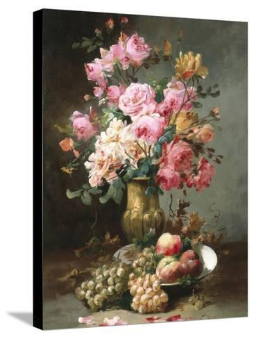 The Flowers and Fruits of Summer-Alfred Godchaux-Stretched Canvas Print