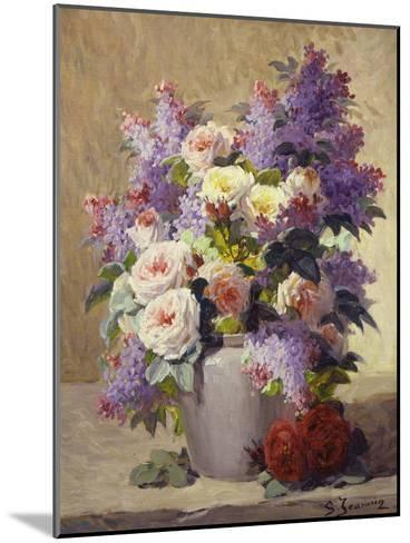 Still Life of Roses and Lilacs-Georges Jeannin-Mounted Giclee Print