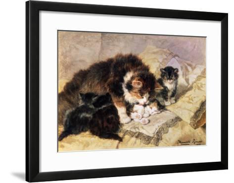 Les Quatre Chatons-Henriette Ronner Knip-Framed Art Print