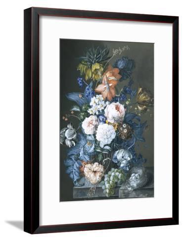 Rich Still Life with a Bird's Nest-Sebastian Wegmayr-Framed Art Print