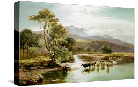 Cader Idris from the River Mawddach-Sidney Richard Percy-Stretched Canvas Print