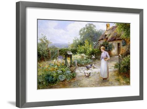 Feeding the Doves-Ernest Walbourn-Framed Art Print