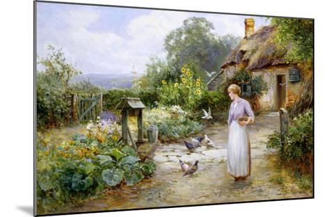 Feeding the Doves-Ernest Walbourn-Mounted Giclee Print