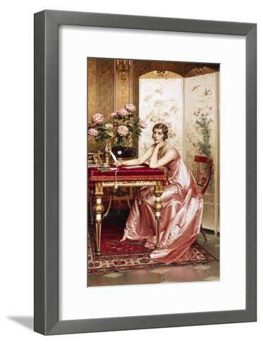 Composing a Letter-Joseph Frederic Soulacroix-Framed Art Print