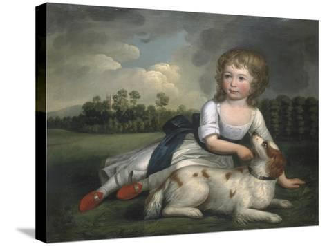 Miss Ramsden and Her Dog, c.1800--Stretched Canvas Print