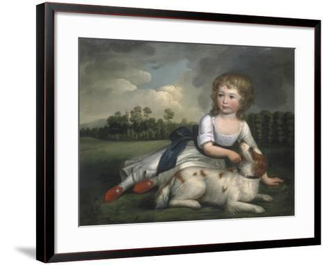 Miss Ramsden and Her Dog, c.1800--Framed Art Print
