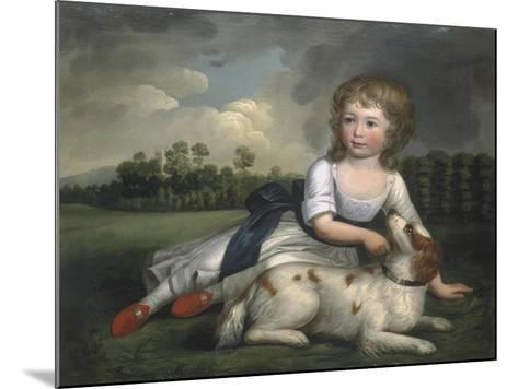 Miss Ramsden and Her Dog, c.1800--Mounted Giclee Print