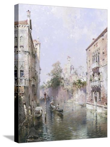 Rio San Bernardo, Venice-Franz Richard Unterberger-Stretched Canvas Print