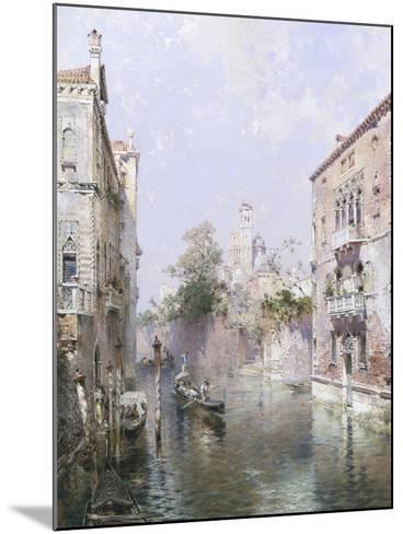 Rio San Bernardo, Venice-Franz Richard Unterberger-Mounted Giclee Print