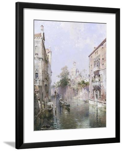 Rio San Bernardo, Venice-Franz Richard Unterberger-Framed Art Print