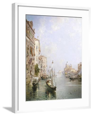 The Grand Canal, Venice-Franz Richard Unterberger-Framed Art Print