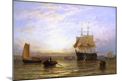 H.M.S. Wellington in Portsmouth Harbor-George Stainton-Mounted Giclee Print