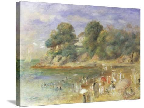 The Beach at Pornic-Pierre-Auguste Renoir-Stretched Canvas Print