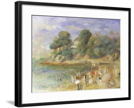 The Beach at Pornic-Pierre-Auguste Renoir-Framed Art Print