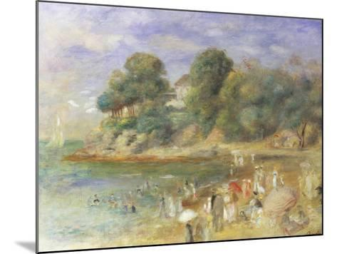 The Beach at Pornic-Pierre-Auguste Renoir-Mounted Giclee Print