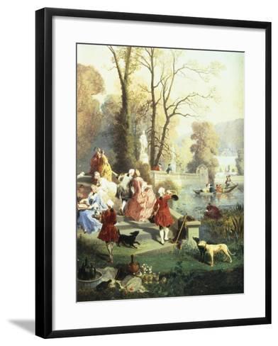 The Elegantes at Versailles-Jules Achille Noel-Framed Art Print