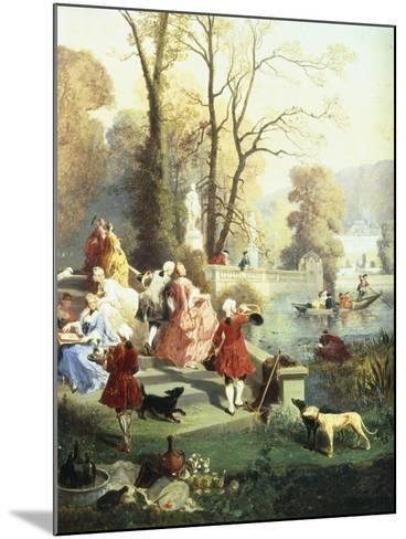 The Elegantes at Versailles-Jules Achille Noel-Mounted Giclee Print