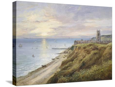 View of Cromer, Norfolk, from the West-John Moore-Stretched Canvas Print