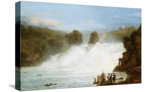 The Falls at Schaffhausen-Josef Stumpf-Stretched Canvas Print