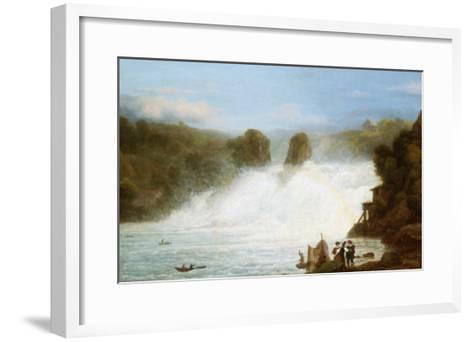 The Falls at Schaffhausen-Josef Stumpf-Framed Art Print