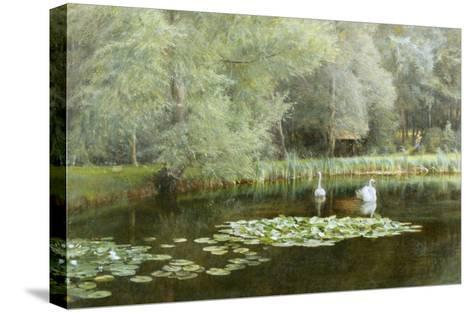 The Lily Pond-Edward R^ Taylor-Stretched Canvas Print