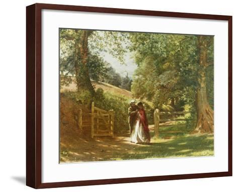 The Lovers' Tryst-Richard Redgrave-Framed Art Print