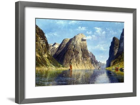 Calm Day on the Fjord, Norway-Adelsteen Normann-Framed Art Print