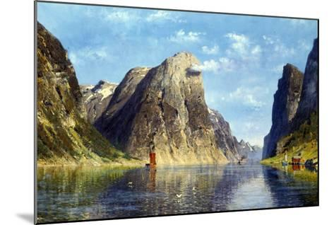 Calm Day on the Fjord, Norway-Adelsteen Normann-Mounted Giclee Print