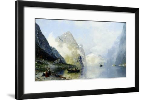 Beautiful Day on the Norwegian Fjord-George Rasmussen-Framed Art Print