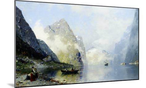 Beautiful Day on the Norwegian Fjord-George Rasmussen-Mounted Giclee Print