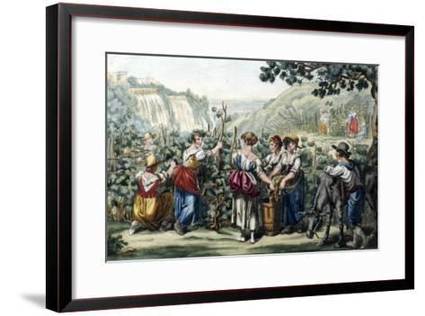 The Grape Harvest-Bartolomeo Pinelli-Framed Art Print