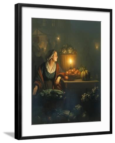 The Market Stall-Petrus van Schendel-Framed Art Print