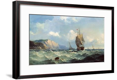 Shipping in a High Sea-John Henry Claude Wilson-Framed Art Print