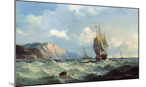 Shipping in a High Sea-John Henry Claude Wilson-Mounted Giclee Print