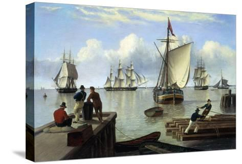 Shipping in the Humber-John Of Hull Ward-Stretched Canvas Print