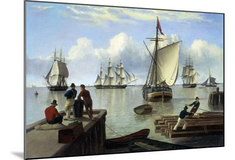 Shipping in the Humber-John Of Hull Ward-Mounted Giclee Print