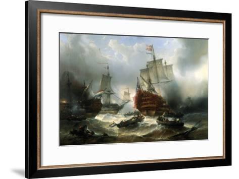 Naval Engagement-Francois Musin-Framed Art Print